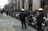 SFPD motorcycle unit escorts former Chief Greg Suhr's mother to funeral