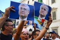 Furious Lazio fans protest against president Claudio Lotito after Marcelo Bielsa resigns as manager