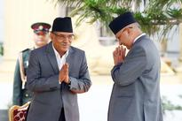 Leave govt if you don't announce polls pronto: Oli to Dahal