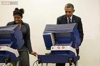 'Girlfriend' crack makes Barack Obama voting all laughs