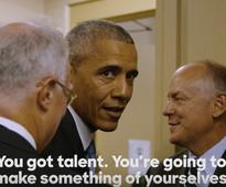 WATCH: President Obama Gets Pumped Up for DNC with Eminem's Lose Yourself