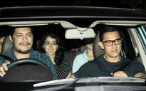 SEE PICS: Aamir Khan watches Sultan with son Junaid and daughter Ira