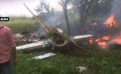 IAF trainer aircraft crashes near Hyderabad, pilot safe