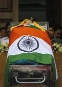 Jayalalithaa laid to rest, buried in sandal casket next to MGR