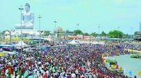 Amaravati: Pilgrims throng ghats for auspicious Sravana Pournami