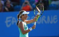Eastbourne's Konta stuns Kvitova to advance to quarterfinals