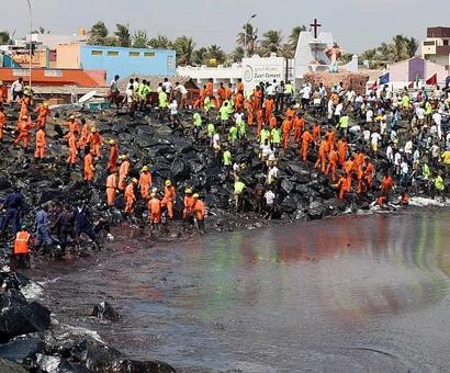 NGT to hear plea on oil spill off Tamil Nadu coast
