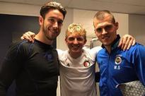Liverpool players reunite as Martin Skrtel, Dirk Kuyt and Brad Jones meet up at Europa League clash