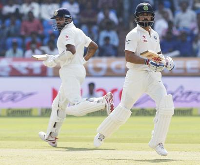 PHOTOS, One-off Test: India make Bangladesh chase leather