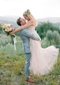 Pretty in Pastel Wedding Dresses for the Offbeat Bride