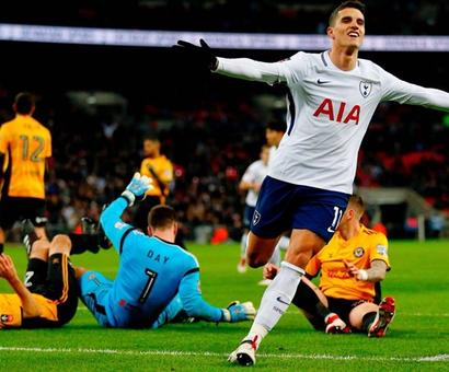 Football Briefs: Tottenham ease past Newport; Sevilla reach Cup final