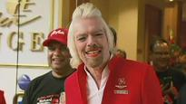 The stewardess with a beard? It's Richard Branson