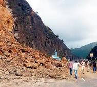 Landfall on Katraj bypass after rains