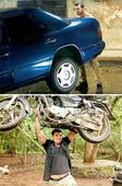 From bike to car, John Abraham muscles it