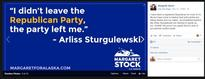 As Stock flies non-partisan banner, bits of blue show through