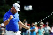 Lee Westwood holes-out from the fairway for the second time this week