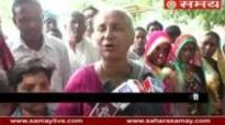 Protest against Medha Patkar on speaking offensive word on Narmada