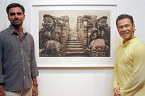 An artistic tribute to Konark and Surya