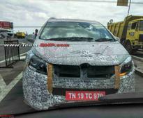 Toyota Innova Rivaling Mahindra MPV Spotted Testing In Chennai