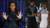 Michelle Obama joins 'Black Panther' cheering squad