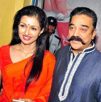 PIX: Kamal Haasan, Trisha at Cheekati Rajyam premiere