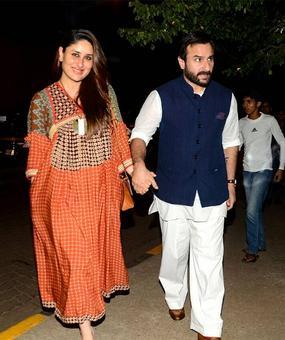PIX: New parents Kareena-Saif's first dinner date