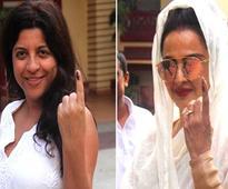 BMC polls: Rekha, Gulzar, Ranveer Singh come out to vote