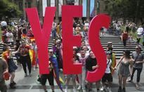 Celebrations as Australians vote 'Yes' to same-sex marriage