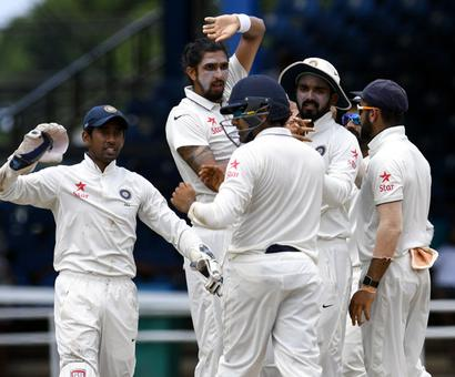 India bag early wickets before rain ends play early on Day 1