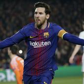 Messi powers Barca into Champions league QF