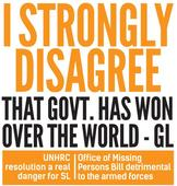 I strongly disagree that govt. has won over the world - GL