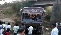 Odisha: 2 dead, 30 injured after bus falls off bridge