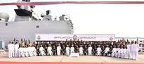 Stealth frigate INS Sahyadri affiliated to Poona Horse Regiment