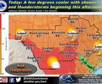Rain returns to forecast for San Antonio this week, high temperatures will cool slightly