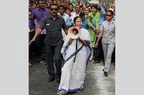 TMC MLAs Stage Protest Outside Raj Bhavan Over Army Deployment