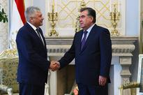 Meeting of Leader of the Nation with the Minister of Internal Affairs of the Russian Federation Vladimir Kolokoltsev