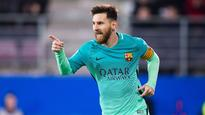 Messi fills in for injured Iniesta, pulls Barcelona's strings in 4-0 win at Eibar