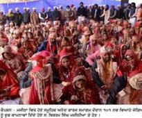 Under the tutelage of Bikram Singh Majithia, 101 couples tied nuptial knot