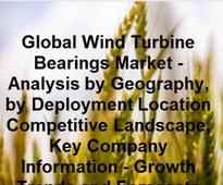 Global wind turbine bearings market projected to reach $7.8B by 2020